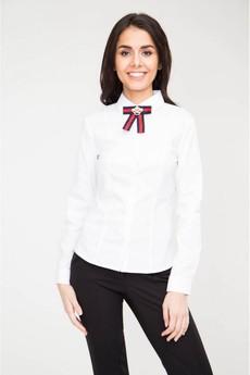 Блуза с брошью Marimay со скидкой